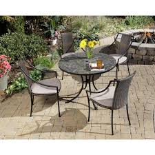 inspiring round table patio dining sets home styles stone harbor 5 piece round patio dining set