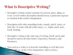 descriptive writing ppt video online  2 what is descriptive