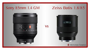 sony 85. sony fe 85mm f/1.4 gm vs zeiss batis f/1.8 \u2013 now with in-depth video comparison! 85 i