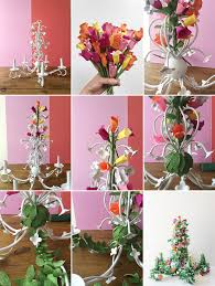 steps paper chandelier