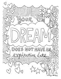 Cool Designs Coloring Pages Adult Dream Graphic Design Printable