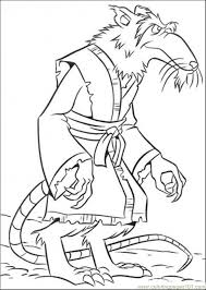 Small Picture Splinter Coloring Page Free Teenage Mutant Ninja Turtles