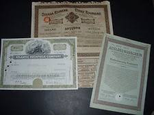 Selling A Share Certificate Sell Share Certificate Bond Collections Bulk Lots Ebay