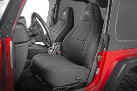 jeep neoprene seat cover set black 11 12 wrangler jk unlimited