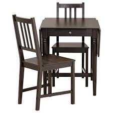 black furniture ikea. Dining Room: Enthralling LERHAMN Table And 2 Chairs Black Brown Ramna Beige 74x74 Cm IKEA Furniture Ikea
