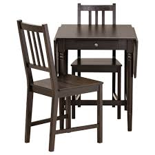 dining room enthralling lerhamn table and 2 chairs black brown ramna beige 74x74 cm ikea