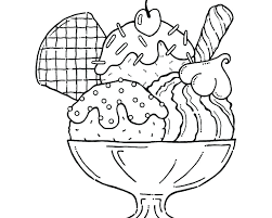 ice cream sundae coloring page. Perfect Page Delighted Ice Cream Sundae Coloring Page New Pictures To Color Throughout In N