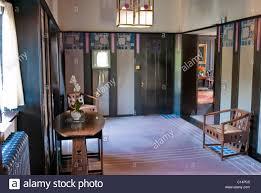 ENTRANCE HALL RENNIE MACKINTOSH HILL HOUSE GLASGOW SCOTLAND UNITED - Hill house interior
