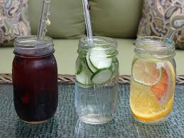 how to make fruit and vegetable infused water in mason jars