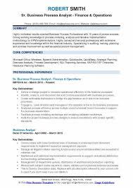 Business Process Analyst Resume Template Business Analyst Resume