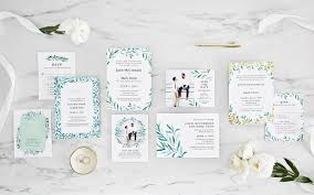 zola paper wedding invitation suite in eastwick wreath eastwick vine eastwick layer and
