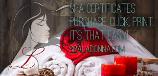 purchase spa certificates purchase print done