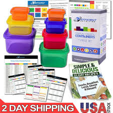 P90x Portion Chart 21 Day Fix Portion Control Containers Kit Beach Body Food Plan Diet Weight Loss