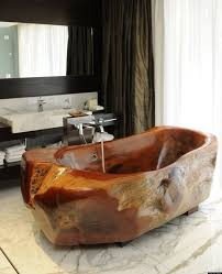 alluring desaign picture standing old bath tub with sweet color on bathroom granite floor near