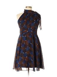 Eliza J Dress Size Chart Details About Eliza J Women Brown Casual Dress 10 Petite