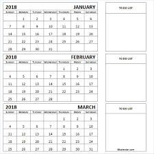month template 2018 january to march 2018 calendar printable 3 month template cool