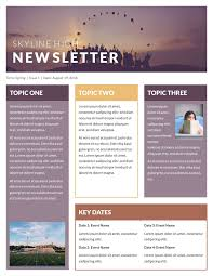 School Newsletter Template For Word Free Printable Newsletter Templates Email Newsletter Examples