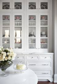 white hutch with glass doors display cabinet with glass doors kitchen white white kitchens