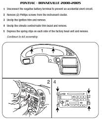 pontiac car radio stereo audio wiring diagram autoradio connector pontiac bonneville 2000 2005 stereo removal installation