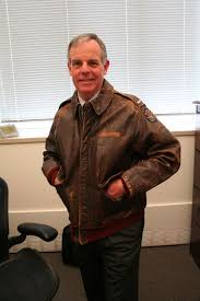 john dodds a military history buff wears a leather jacket he and his daughter found in a washington d c goodwill dodds is sending the jacket