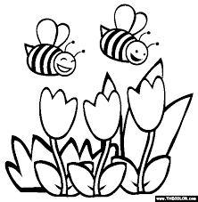 Bees Coloring Page Free Bees Online Coloring Drawings Colored By