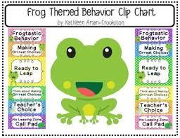 Frog Themed Behavior Chart Frog Themed Behavior Clip Chart Behavior Clip Charts Frog