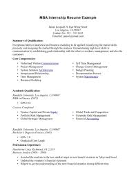 Resume For Internship Of Mba Freshers And Internship Resume Format