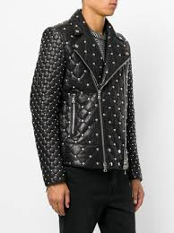 Balmain Studded Quilted Biker Jacket $4,480 - Buy Online - Mobile ... & ... Balmain studded quilted biker jacket Adamdwight.com
