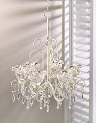 shabby dazzling chic beaded chandelier shabby ivory candle light free