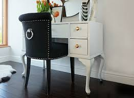 black dressing table chair