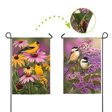 mini garden friends banner flag