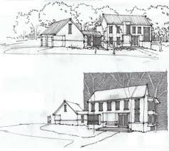 architecture houses sketch. Brilliant Sketch Architecture House Drawing Ural Houses Buildings Sketches How  Does An Design Intended Sketch