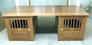 wooden dog crate end table top plans double pet kennel black furniture with wood