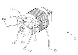 patent us universal motor reduced emi patent drawing