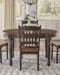 A America British Isles 52 76 Oval Dining Table With 2 12