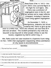Small Picture Rosa Park Famous Quotes Handwriting grades 1 2 Black History Rosa