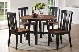 F2322 Dark Brown Round Dining Table By Poundex