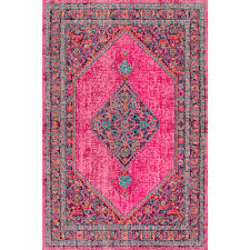 nuloom vintage medallion dortha pink 4 ft x 6 ft area rug