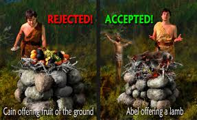Image result for God treferred abel's sacrifice over cain;s.