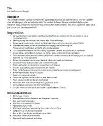 Resume For A Job Samples Tasty Restaurant Manager Resume Samples Net