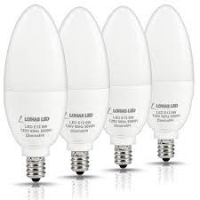 Daylight Candelabra Light Bulbs Lohas Dimmable Candelabra Bulb Led 5000k Daylight E12 Candelabra Base Light Led 75w Light Bulbs Equivalent 8w 750 Lumens Kitchen Chandelier Light