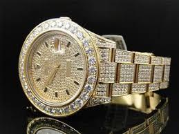 28 ct new mens diamond gold rolex datejust date just 2 ii 45mm image is loading 28 ct new mens diamond gold rolex datejust