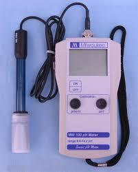 Ph Meter Calibration Milwaukee Mw 100 Digital Ph Meter W Calibration Solution