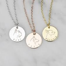 whole dog portrait pendant custom name necklace women pet gift stainless steel pendant memorial fashion personalized jewelry popular pendant necklaces