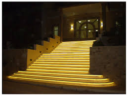 led outdoor stairs strip light examples