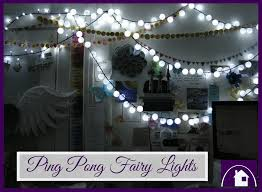 Ping Pong Fairy Lights Diy Decor Ping Pong Fairy Lights Purple Paper House
