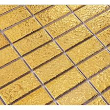 gold eramic mosaic tile brick arabesque patterns kitchen backsplash bravotti com