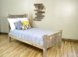 ... Bed Frame Made Out Of Pallets With Lights From Wooden Diy Pallet ...