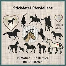Pferdeliebe Fohlen Stickdatei