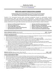 Executive Resume Samples Awesome Private Equity Resume